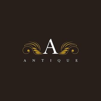 Ein buchstabe-elegantes elegantes würdevolles verzierungs-logo