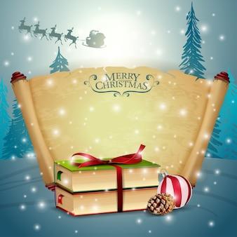 Ein bündel pergament mit weihnachtsbuch