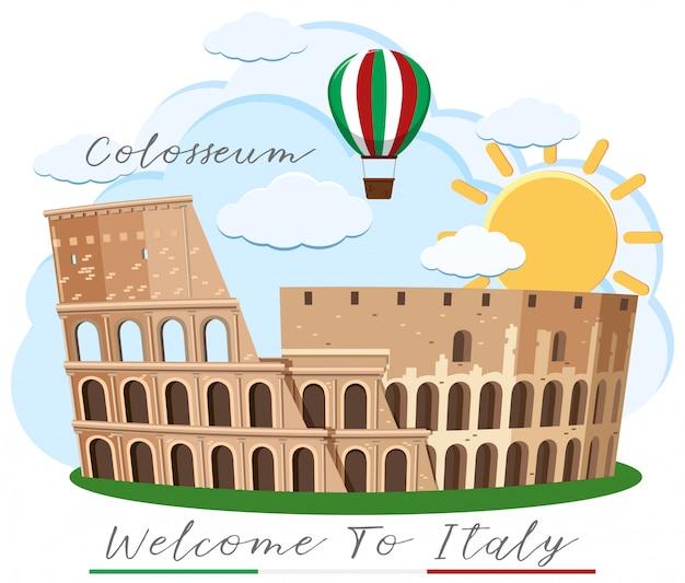 Ein colosseum rom italien-markstein