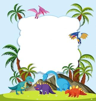Ein dinosaurier-rahmenkonzept
