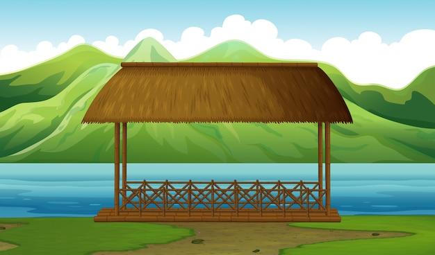 Ein dock in der natur