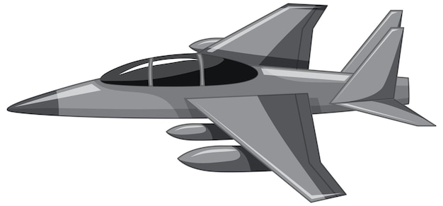 Ein düsenjäger oder ein militärflugzeug isoliert auf weißem hintergrund