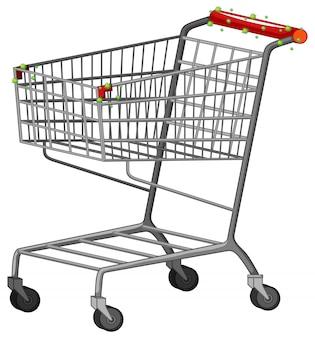 Ein einkaufswagen voller coronavirus-zellen