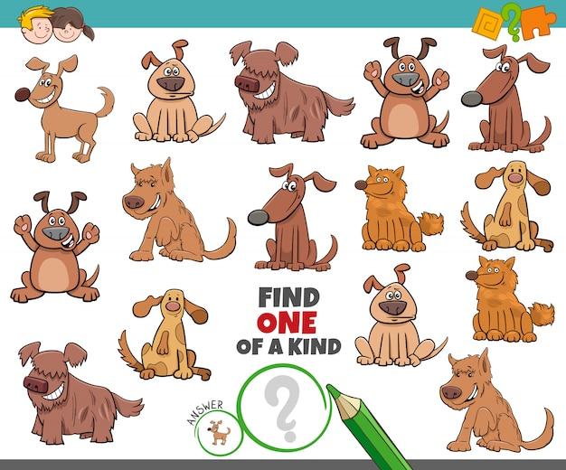 Ein einzigartiges spiel für kinder mit hunden, haustieren und tieren
