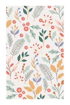 Ein eleganter winterlaubhintergrund in den pastellfarben