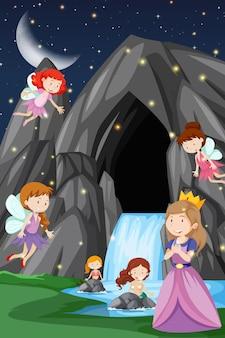 Ein fantasy-märchenland