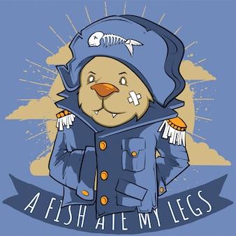 Ein fisch aß meine beine