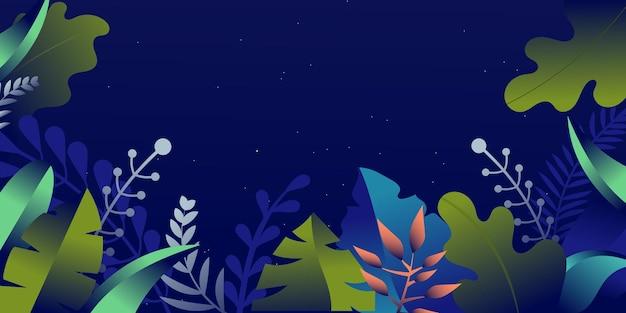 Ein florales hintergrunddesign für die flache illustration des webs und der apps