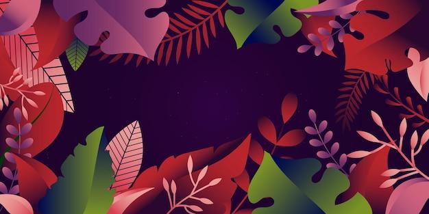 Ein florales web-hintergrundbanner für die flache illustration des webs und der apps