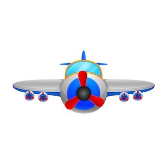 Ein flugzeug auf einem weißen hintergrund