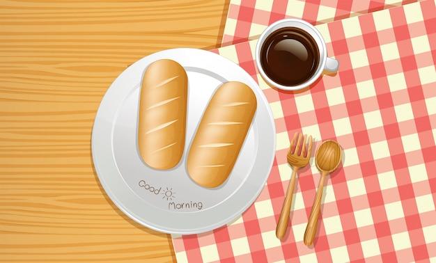 Ein frühstück von der draufsicht