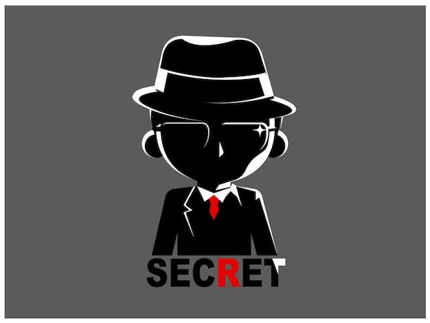 Ein geheimnisvoller mann im schwarzen anzug