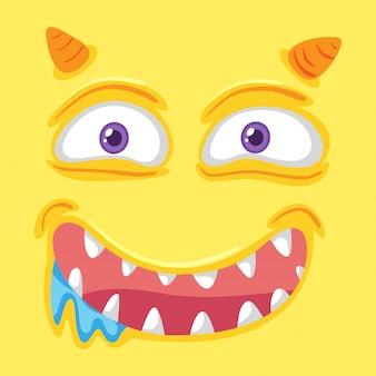 Ein gelbes monstergesicht