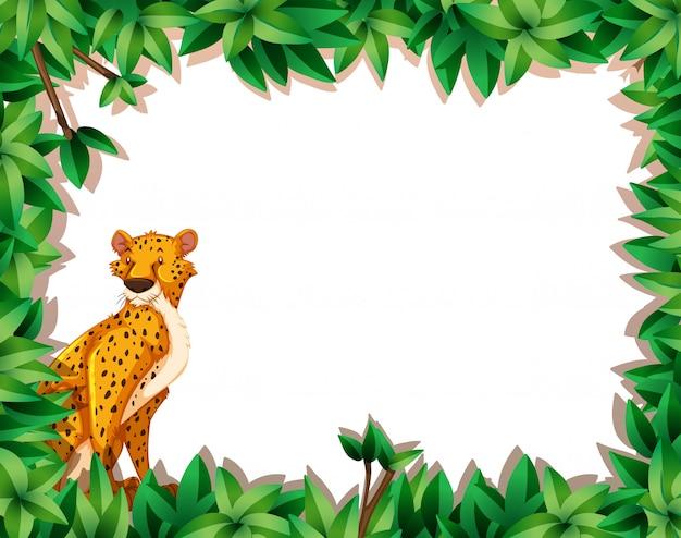 Ein gepard im naturrahmen