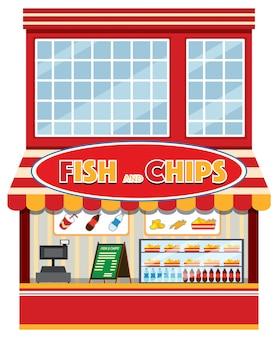 Ein geschäft mit fisch und chips