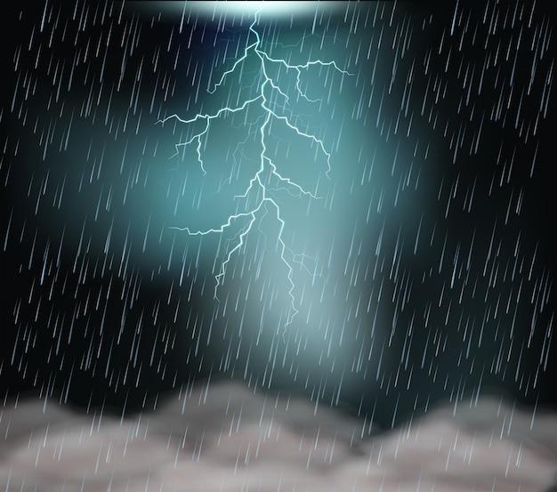 Ein gewitter nacht hintergrund