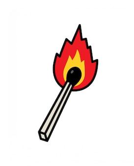 Ein gewöhnliches match-symbol