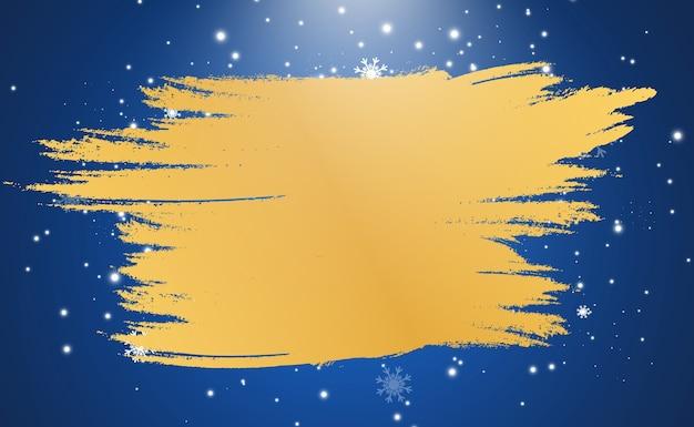 Ein goldener rahmen auf einem blauen hintergrund