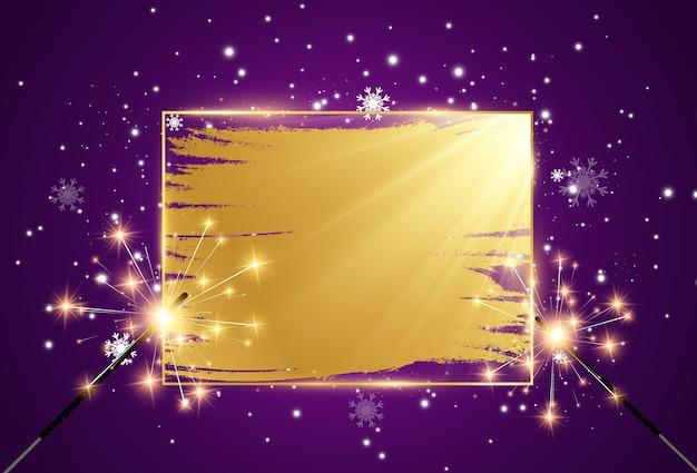 Ein goldener rahmen auf einem lila hintergrund