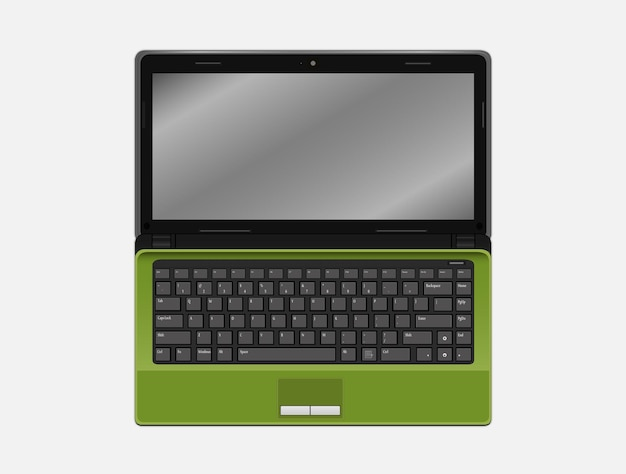 Ein grüner laptop