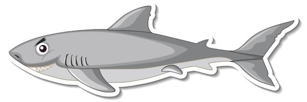 Ein hai-meerestier-cartoon-aufkleber