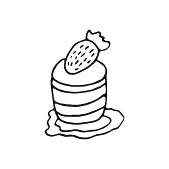 Ein handgezeichneter kuchen