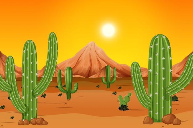 Ein heißer wüstenhintergrund