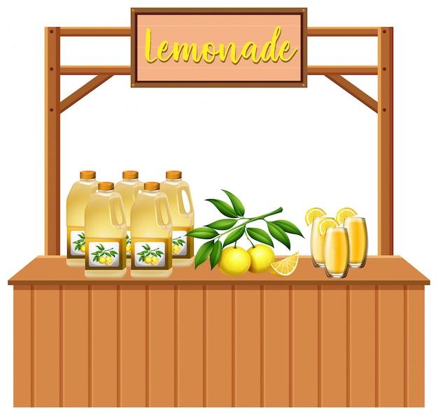 Ein isolierter limonadenstand