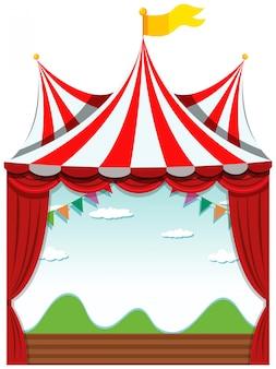 Ein isolierter zirkus