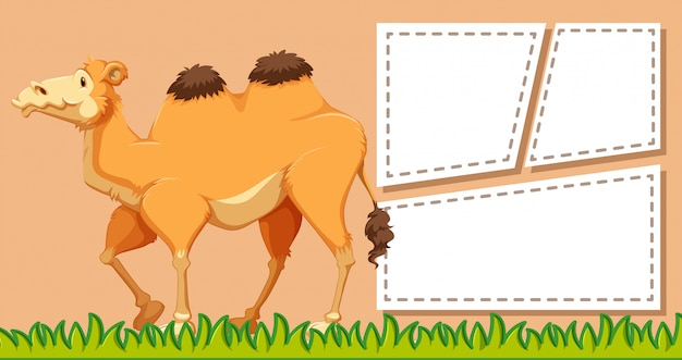 Ein kamel auf leere notiz