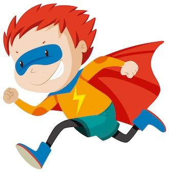 Ein kleiner superheld-charakter