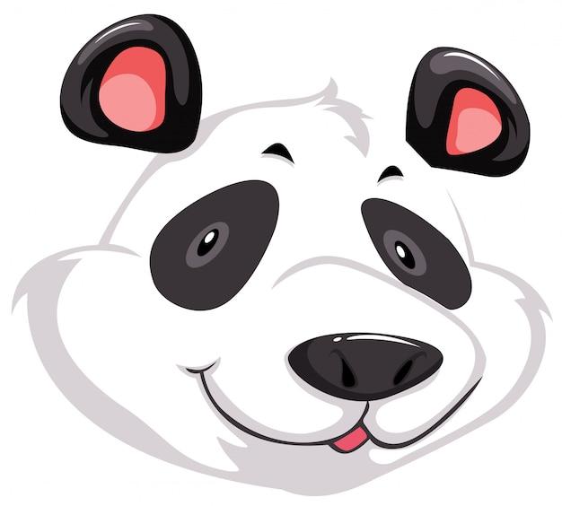 Ein kopf von panda