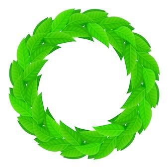 Ein kranz aus grünen blättern