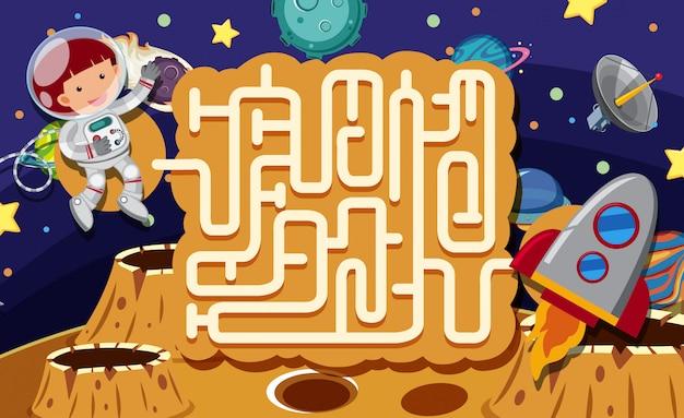 Ein labyrinth puzzle spiel space scene