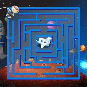 Ein labyrinth-spiel im weltraum