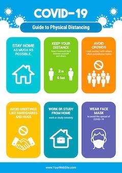 Ein leitfaden zum infografik-poster zur physischen distanzierung