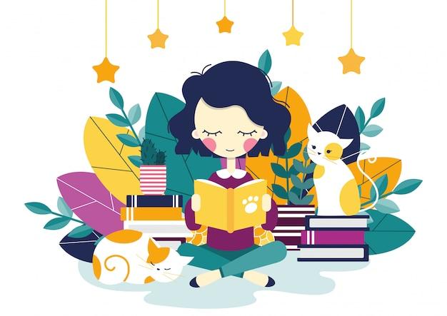 Ein lesendes mädchen