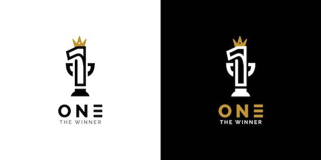 Ein logo-design das gewinner-markendesign-konzept