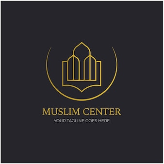 Ein logo für eine muslimische unternehmensorganisation oder human resources