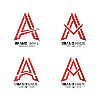 Ein logo-sammlungskonzept