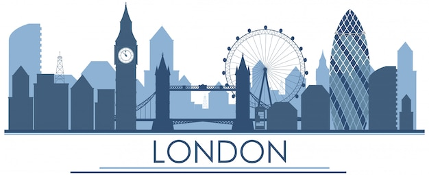 Ein london england-markstein im blau