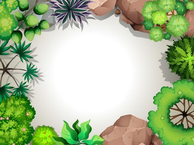 Ein luftgartenansicht gestalteter hintergrund