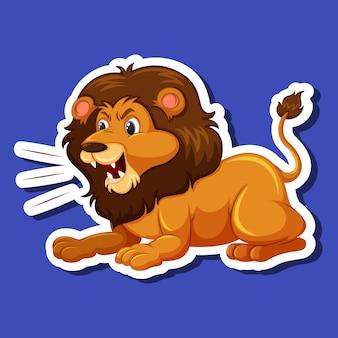 Ein männlicher löwencharakter