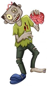 Ein männlicher zombie-charakter