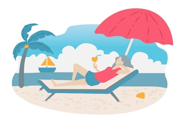 Ein mann genießt am strand