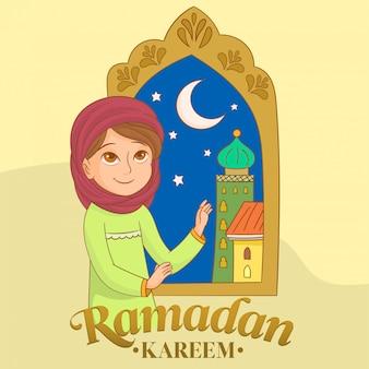 Ein muslimisches mädchen, das betet