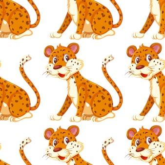 Ein nahtloser hintergrund des geparden