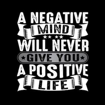 Ein negativer geist wird dir niemals ein positives geben