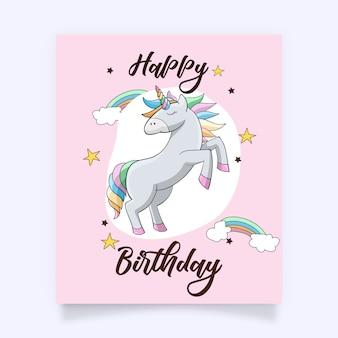 Ein nettes buntes unicorn mit reizenden zusätzen