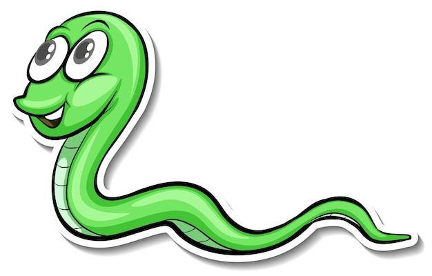 Ein niedlicher schlangen-cartoon-tieraufkleber